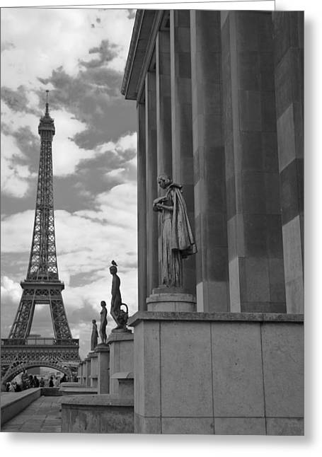 Night Cafe Greeting Cards - Trocadero View Greeting Card by Laria Saunders