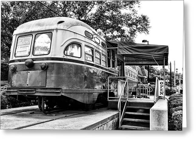 Germantown Greeting Cards - Trolley Car Diner - Philadelphia Greeting Card by Bill Cannon