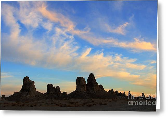 Trekkie Greeting Cards - Trona Pinnacles At Sunset Greeting Card by Bob Christopher