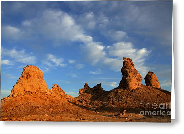 Trekkie Greeting Cards - Trona Pinnacles Golden Hour Greeting Card by Bob Christopher
