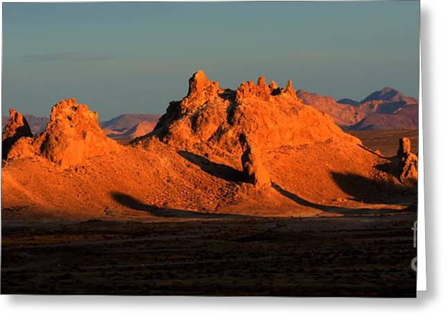 Trekkie Greeting Cards - Trona Pinnacles Panorama Greeting Card by Bob Christopher