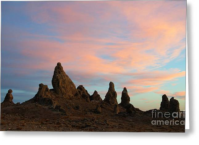 Trekkie Greeting Cards - Trona Pinnacles Standing Guard Greeting Card by Bob Christopher