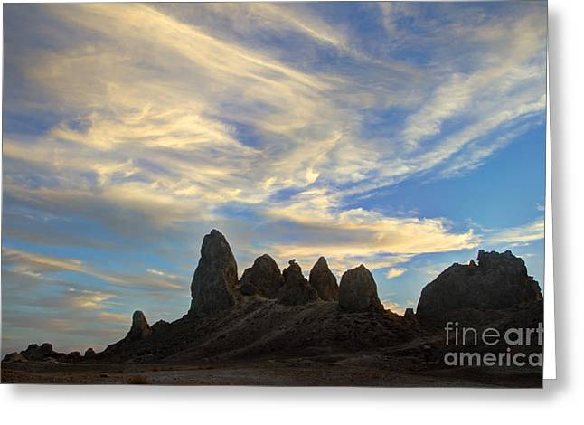 Trekkie Greeting Cards - Trona Pinnacles Windswept Greeting Card by Bob Christopher