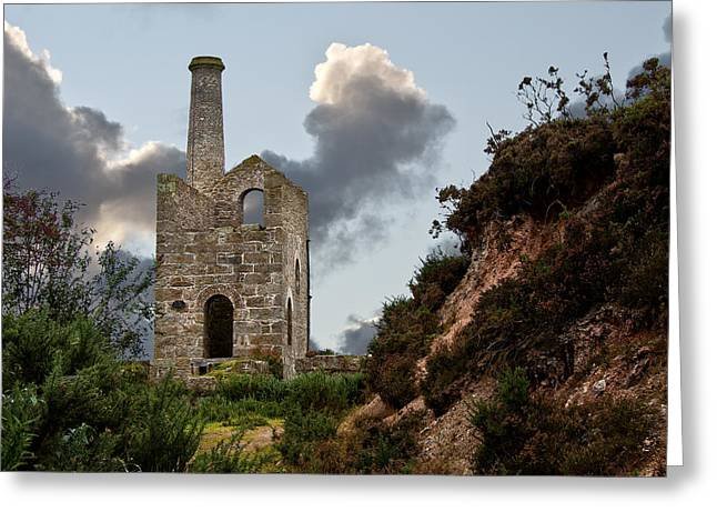 Camborne Greeting Cards - Troon Mine Greeting Card by Paul Howarth