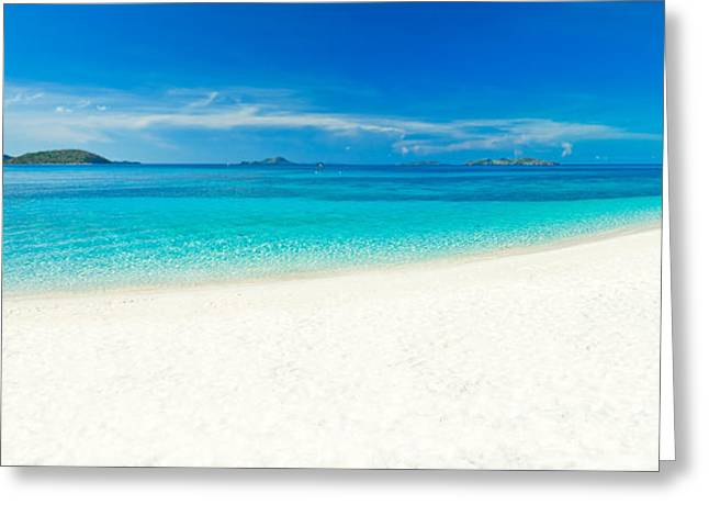 Recently Sold -  - Sea View Greeting Cards - Tropical beach panorama Greeting Card by MotHaiBaPhoto Prints