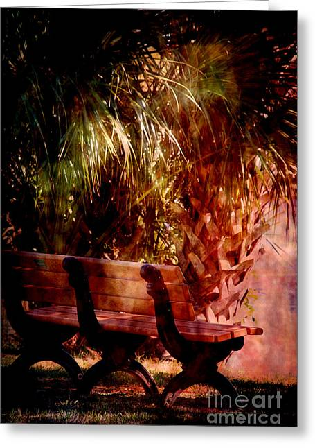 Plants Greeting Cards - Tropical Bench Greeting Card by Susanne Van Hulst