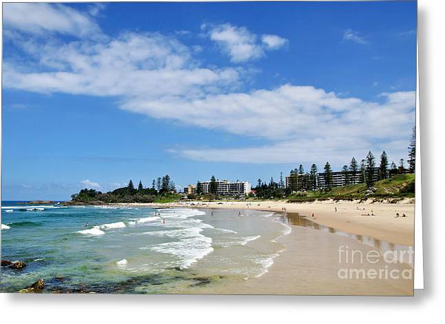 Macquarie Greeting Cards - Tropical Coastline - Port Macquarie Beach Greeting Card by Kaye Menner