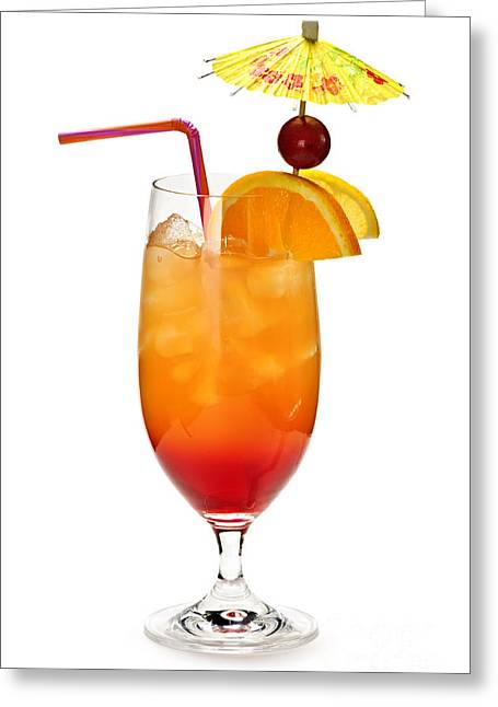 Punch Greeting Cards - Tropical cocktail Greeting Card by Elena Elisseeva