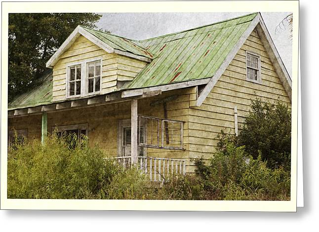 Tin Roof Greeting Cards - Tropical Cottage Greeting Card by John Stephens