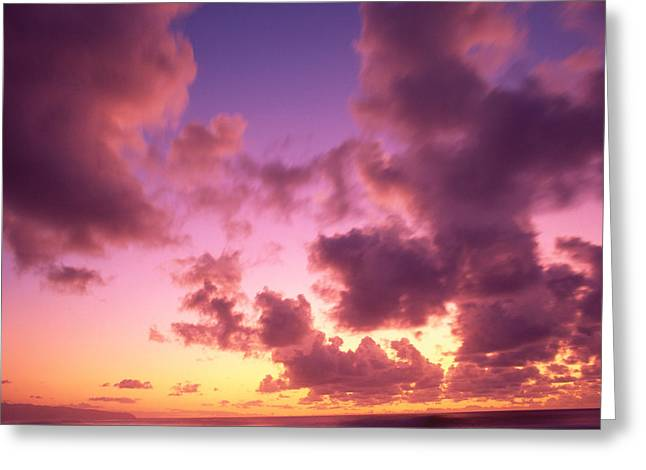 Vince Greeting Cards - Tropical Cumulus Clouds Greeting Card by Vince Cavataio - Printscapes