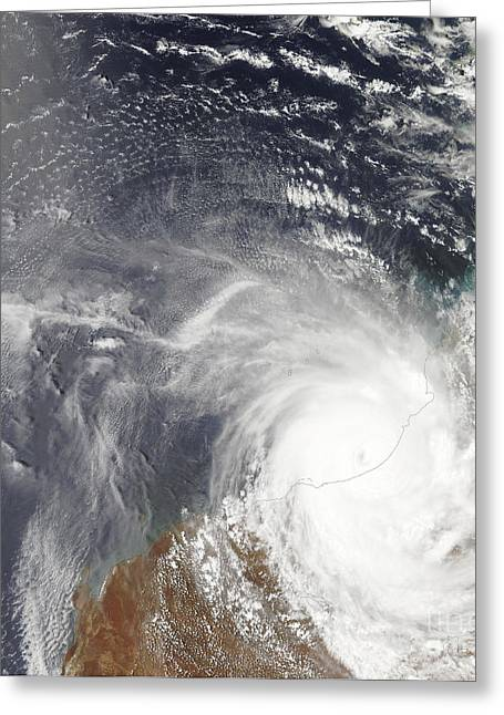 Laurence Greeting Cards - Tropical Cyclone Laurence Over Western Greeting Card by Stocktrek Images