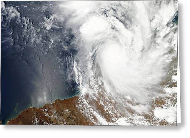 Laurence Greeting Cards - Tropical Cyclone Laurence Greeting Card by Stocktrek Images