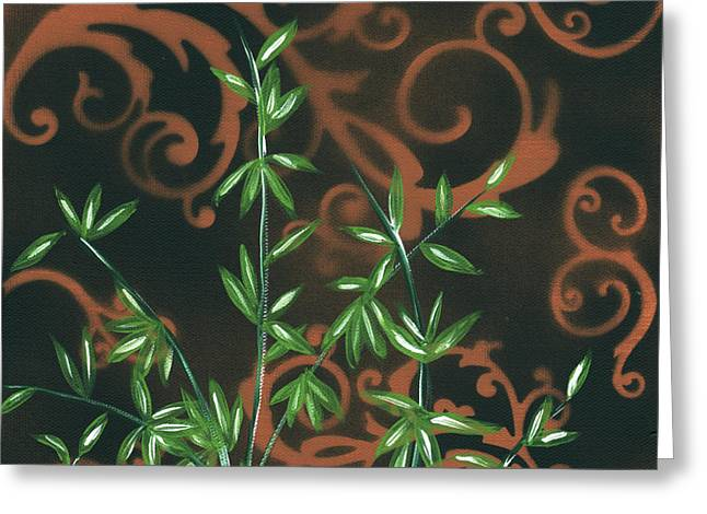 Bamboo Wall Greeting Cards - Tropical Dance 2 by MADART Greeting Card by Megan Duncanson