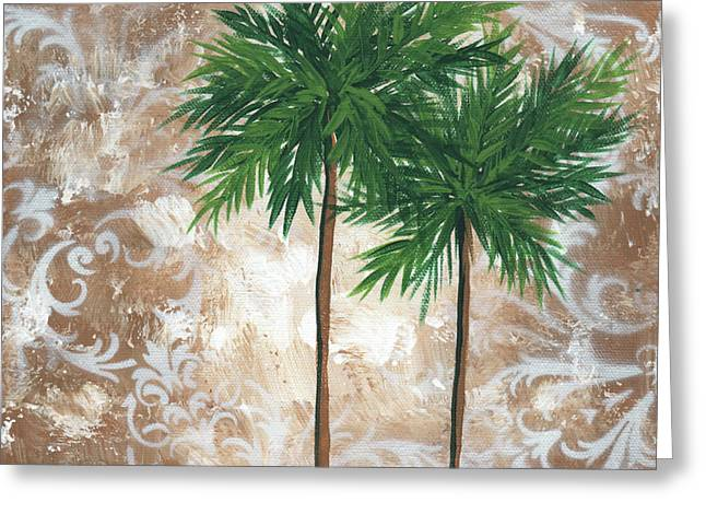 Bamboo Wall Greeting Cards - Tropical Dance 4 by MADART Greeting Card by Megan Duncanson