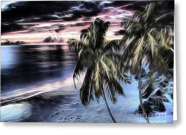 Wall Art For Your Home Or Office Greeting Cards - Tropical Evening Greeting Card by Cheryl Young