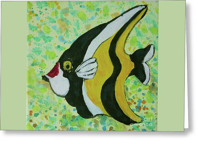 Titanium White Greeting Cards - Tropical Fish Series 1 of 4 Greeting Card by Gail Kent
