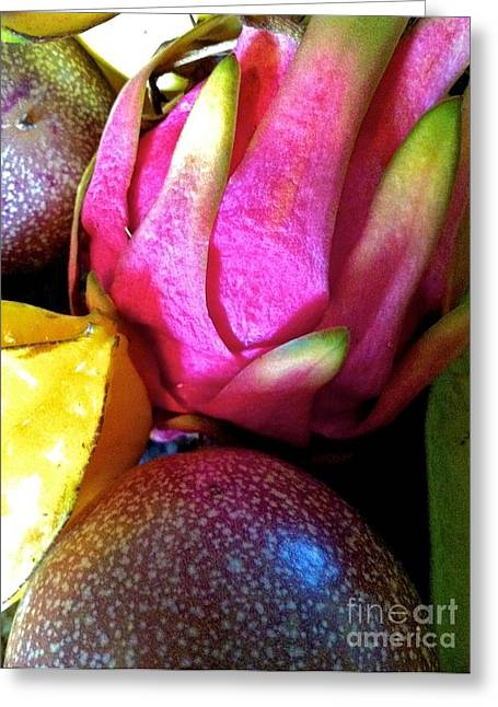 Lilikoi Greeting Cards - Tropical Fresh Fruit Greeting Card by J R Stern