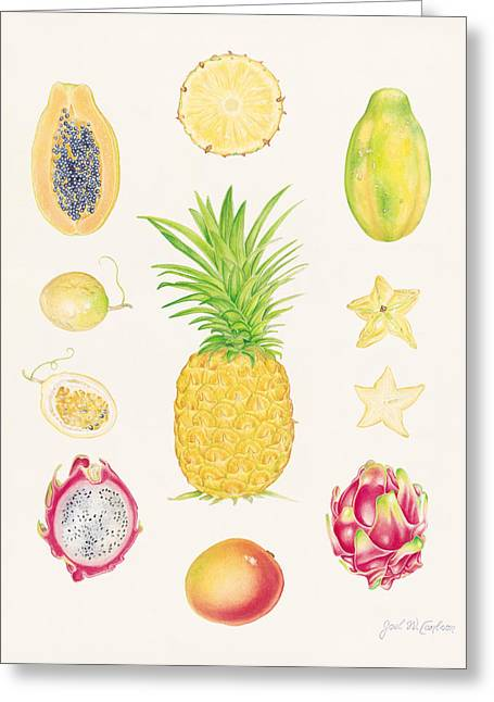 Passion Fruit Greeting Cards - Tropical Fruit 1 Greeting Card by Joel Carlson