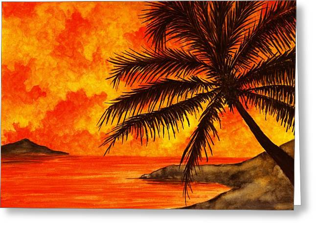 Tropical Oceans Greeting Cards - Tropical Heat Greeting Card by Michael Vigliotti