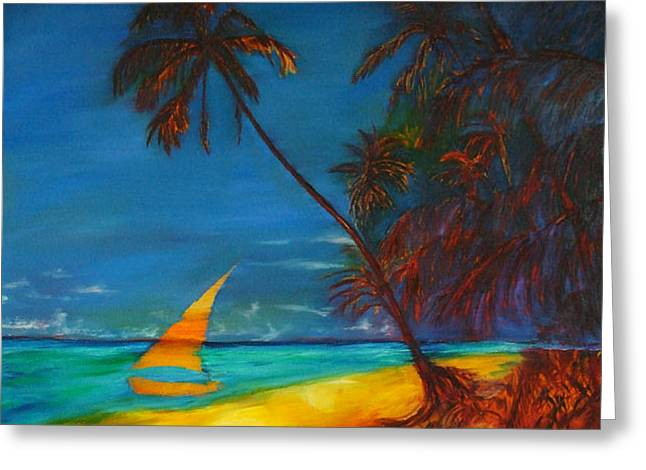 Gregory Allen Page Greeting Cards - Tropical Islands Greeting Card by Gregory Allen Page