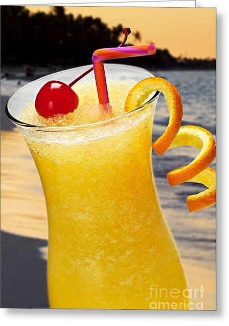 Tropical Orange Drink Greeting Card by Elena Elisseeva