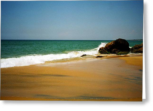 Sandy Beaches Greeting Cards - Tropical sandy beach Greeting Card by Jasna Buncic