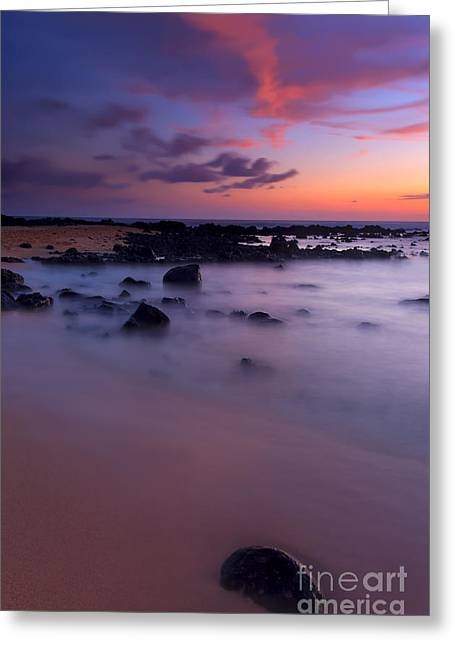 Poipu Greeting Cards - Tropical Serenity Greeting Card by Mike  Dawson