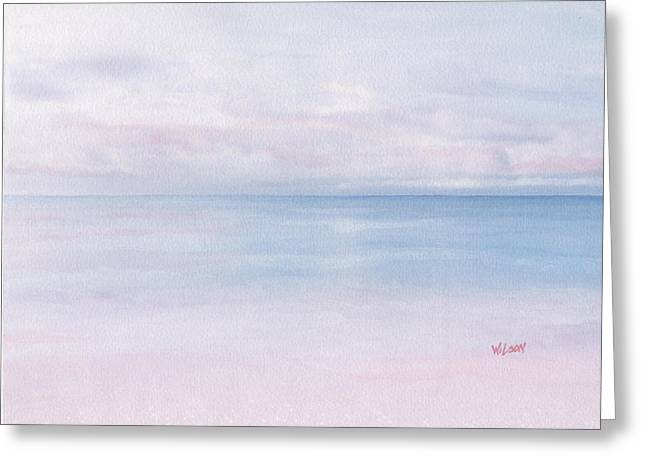 Ocean. Reflection Drawings Greeting Cards - Tropical Shimmer Greeting Card by WolfShark Studios