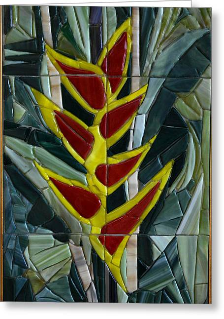 Tropical Glass Greeting Cards - Tropical Greeting Card by Sonia Ruiz