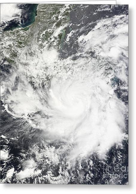 Tropical Storm Alma Greeting Card by Stocktrek Images