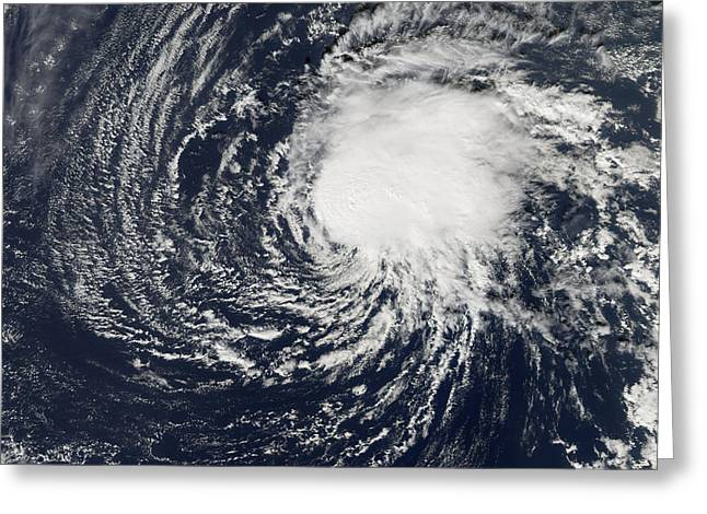 21st Greeting Cards - Tropical Storm Zeta, 2nd January 2006 Greeting Card by NASA / Science Source