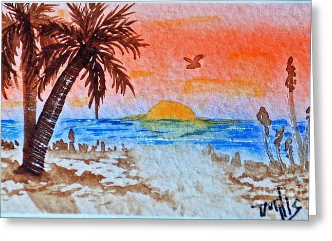 Terri Waters Paintings Greeting Cards - Tropical Sun Greeting Card by Terri Mills