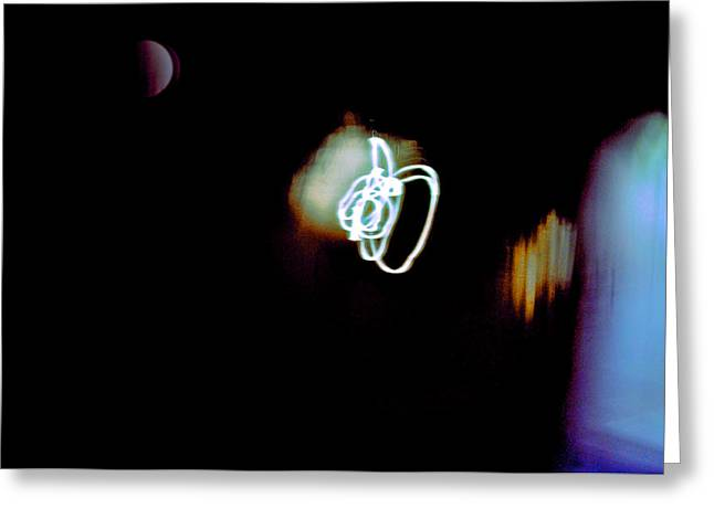 Inner Reality Greeting Cards - Troubled Moon Greeting Card by Henry Rowland