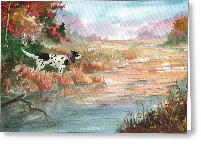 Fishing Creek Greeting Cards - Trout Point Greeting Card by Sean Seal