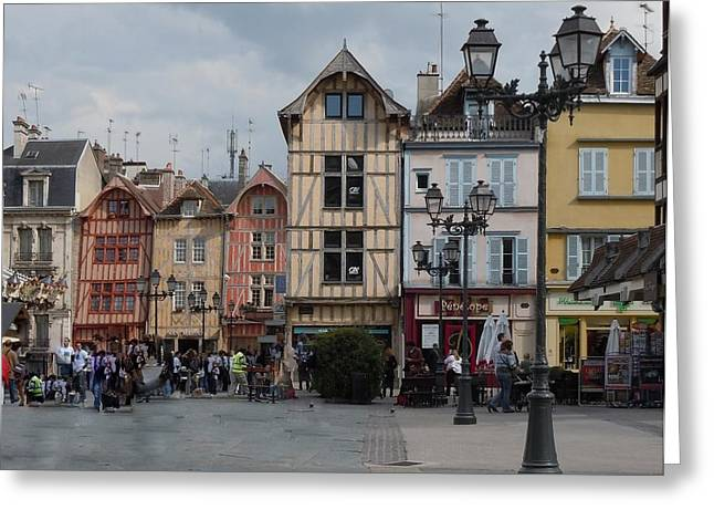 Timber Posts Greeting Cards - Troyes France Greeting Card by Marilyn Dunlap
