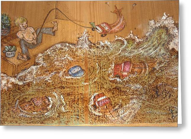 Fishing Pyrography Greeting Cards - Truck Dispatcher Greeting Card by Doris Lindsey