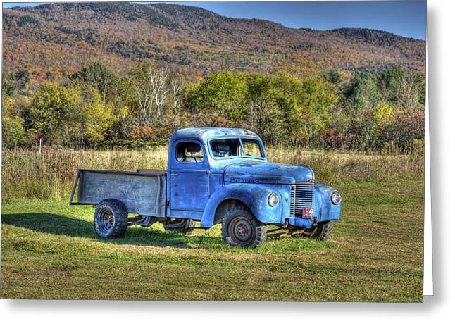 Vermont Photographs Greeting Cards - Truck in a Field Greeting Card by Dennis Clark