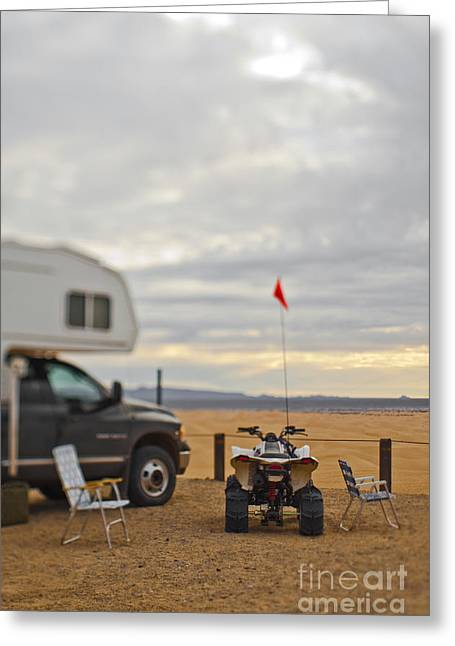 Lawn Chair Greeting Cards - Truck, Trailer and ATV Greeting Card by Eddy Joaquim