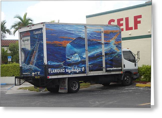 Truck Wraps Greeting Card by Carey Chen