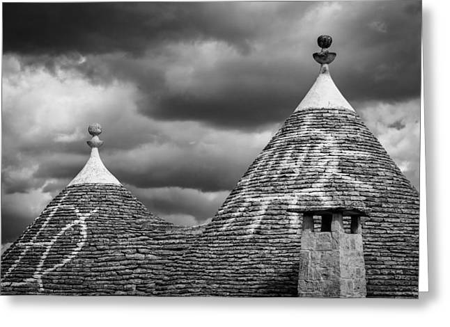 Trulli Greeting Cards - Trulli Conival Greeting Card by Michael Avory