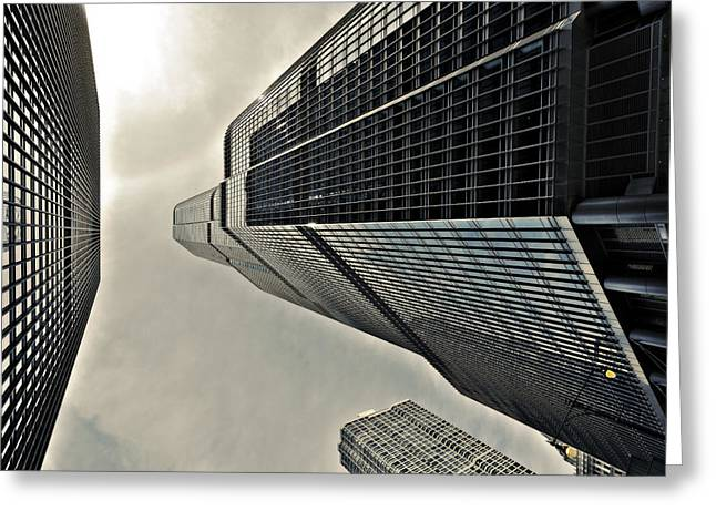 40mm Greeting Cards - Trumped in Chicago Greeting Card by CJ Schmit