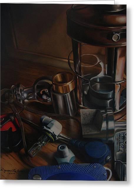 Slc Paintings Greeting Cards - Trumpeloeil Still Life  Greeting Card by Ryan L  Jones