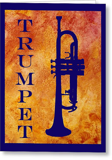 Trumpet Greeting Card by Jenny Armitage