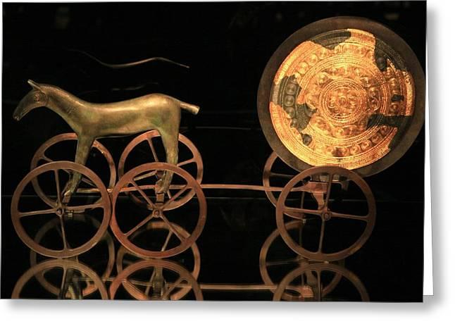 Trundholm Sun Chariot, Bronze Age Greeting Card by Detlev Van Ravenswaay