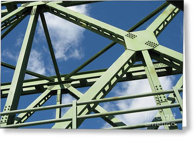True Color Photograph Greeting Cards - Truss Greeting Card by Arlene Carmel