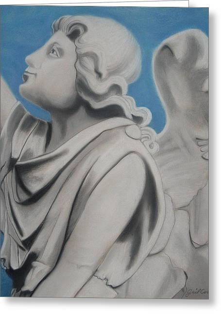 Angel Blues Pastels Greeting Cards - Trust Greeting Card by Gail Cowan