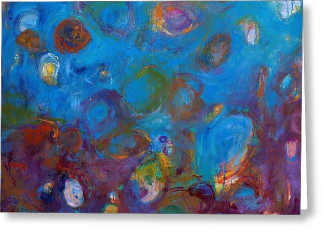 Free Form Paintings Greeting Cards - Truth in Dreams I Greeting Card by Johnathan Harris