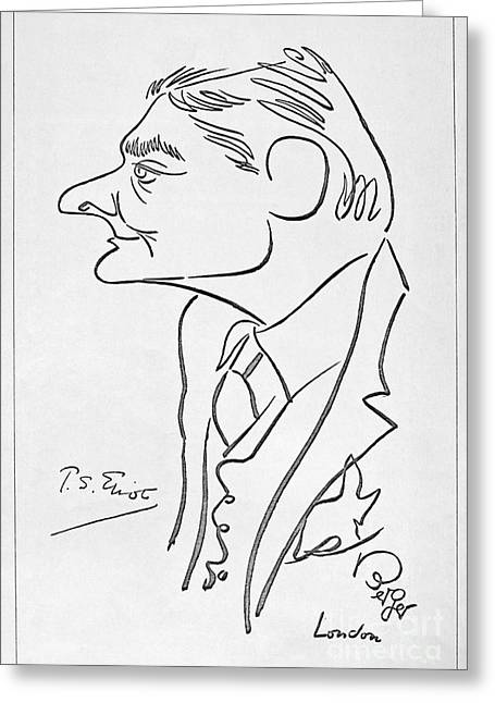 Caricature Photographs Greeting Cards - T.s. Eliot (1888-1965) Greeting Card by Granger