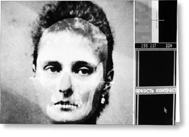Russian Revolution Greeting Cards - Tsarina Alexandra, Skull Reconstruction Greeting Card by Ria Novosti