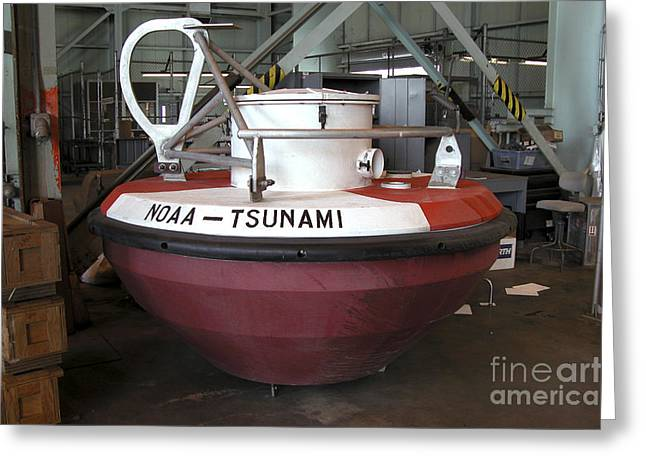 Troubleshooting Greeting Cards - Tsunami Buoys Greeting Card by Science Source